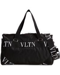 Valentino Vltn ロゴ スモール ナイロンボストンバッグ - ブラック