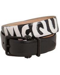 Alexander McQueen Кожаный Ремень С Логотипом 4см - Черный