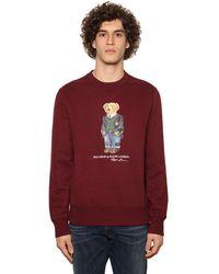 Polo Ralph Lauren Sweatshirt Aus Baumwolle Mit Druck - Rot