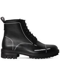 DSquared² Кожаные Ботинки На Шнуровке 45mm - Черный