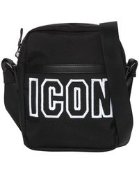 DSquared² - Icon Frame Tech Nylon Crossbody Bag - Lyst