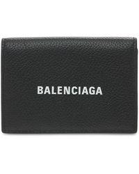 Balenciaga Кожаный Бумажник С Логотипом - Черный