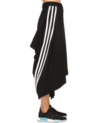 Y-3 - Draped Cotton Blend Skirt - Lyst