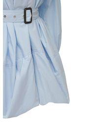 JW Anderson ベルテッドサテンシャツ - ブルー