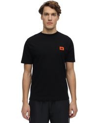 BOTTER Logo Embroidered Cotton Jersey T-shirt - Black