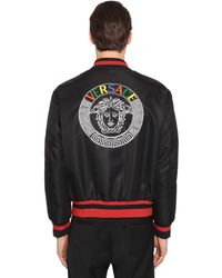 Versace Embroidered Medusa Bomber Jacket - Black