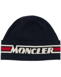 Moncler - Logo Wool Tricot Beanie - Lyst