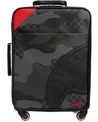 Sprayground 3am Never Sleep Carry On Luggage Case - Black