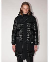 Burberry Wool & Quilted Nylon Down Jacket - Черный