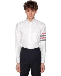 Thom Browne コットンフランネル ストレートフィットシャツ - ホワイト