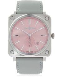 "Bell & Ross Reloj ""brs Quartz"" De Acero Rosa - Multicolor"