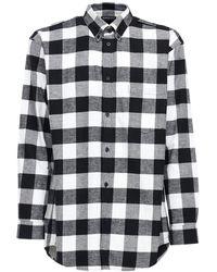Balenciaga - オーバーサイズコットンフランネルシャツ - Lyst