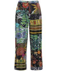Ciao Lucia Pietro Patchwork Straight Pants - Multicolour