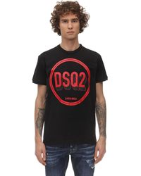 DSquared² T-shirt Aus Baumwolle Mit Druck - Schwarz