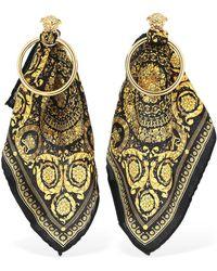 Versace - Baroque Scarf Hoop Earrings - Lyst