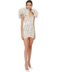 Alessandra Rich Мини-платье Из Тафеты - Белый