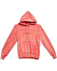 Guess - Washed Cotton Sweatshirt Hoodie - Lyst