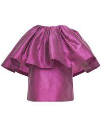 Marques'Almeida Recycled Taffeta Sleeveless Top - Purple