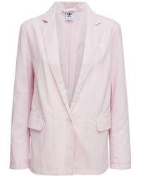 adidas Originals Blazer Aus Nylon Mit Logo - Pink