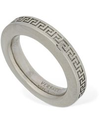 Versace Mini Fedina-ring Mit Griechischem Motiv - Mettallic