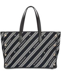 Givenchy - Medium Bond All Over Logo Canvas Tote - Lyst