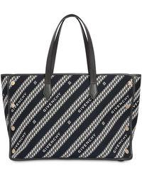 Givenchy Bolso Tote Mediano De Lona Con Logo - Negro