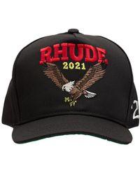 Rhude Eagle コットンブレンドキャップ - ブラック
