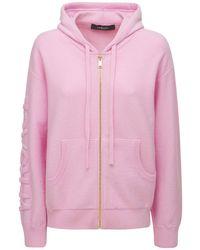 Versace ウール&カシミアジップアップフーディー - ピンク
