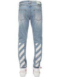Off-White c/o Virgil Abloh Jeans Slim Fit In Denim Di Cotone - Blu