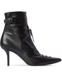 Philosophy Di Lorenzo Serafini 75mm Lace-up Leather Boots - Black
