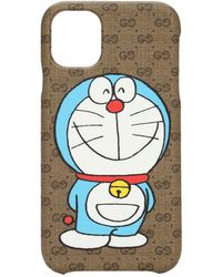 Gucci Чехол Для Телефона Doraemon X Iphone 11 - Коричневый