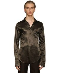 Ludovic de Saint Sernin Skinny Viscose Satin Shirt - Multicolour