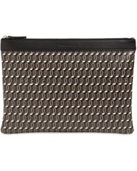 DSquared² Monogram Print Coated Canvas Pouch - Black