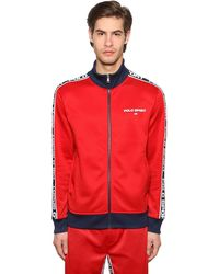 Polo Ralph Lauren Logo Zip-up Techno Sweatshirt - Red