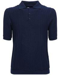 """Wax London Polohemd Aus Stretch-baumwollmischung """"naples"""" - Blau"""