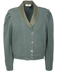 Étoile Isabel Marant Куртка Из Хлопкового Габрадина - Зеленый