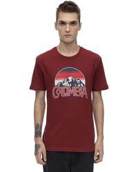 Columbia Basin Butte コットンブレンドtシャツ - レッド