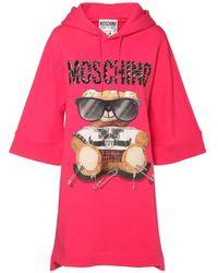 Moschino Bear ジャージースウェットシャツドレス - ピンク