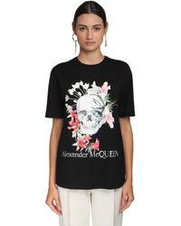 Alexander McQueen - コットンジャージーtシャツ - Lyst