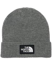 The North Face ロゴビーニー - グレー