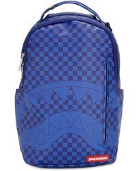 Sprayground Checkered Shark Backpack - Blue