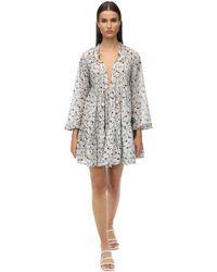 Yvonne S Cotton Voile Mini Dress - White