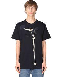Loewe コットンジャージーtシャツ - ブルー