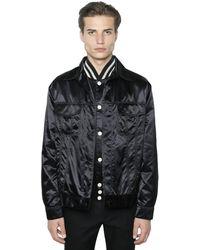 CALVIN KLEIN 205W39NYC Techno Satin Shirt Jacket - Black