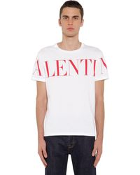 Valentino - Print Cotton Jersey T-shirt - Lyst