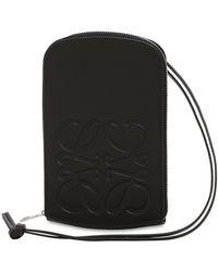 Loewe レザージップコインケース - ブラック