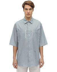 Isabel Marant Striped Cotton Poplin Shirt - Blau