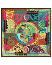 Versace Printed Silk Twill Scarf - Multicolour