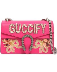"""Gucci - """"small Dionysus """"""""fy"""""""" Leather Bag"""" - Lyst"""
