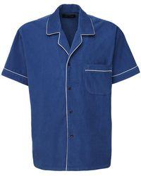 Les Tien コットンシャツ - ブルー